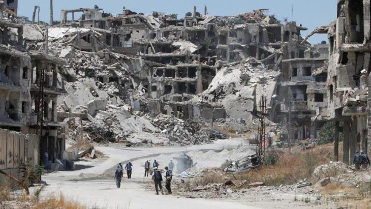 The destroyed city of Homs in central Syria (photo: Reuters)