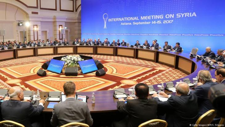Syrian peace talks in Astana, September 2017 (photo: Getty Images/AFP)