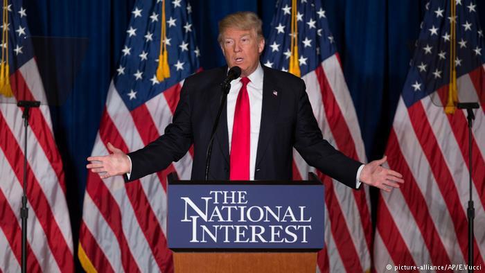 Donald Trump on the campaign trail in 2016 (photo: picture-alliance/AP/E. Vucci)