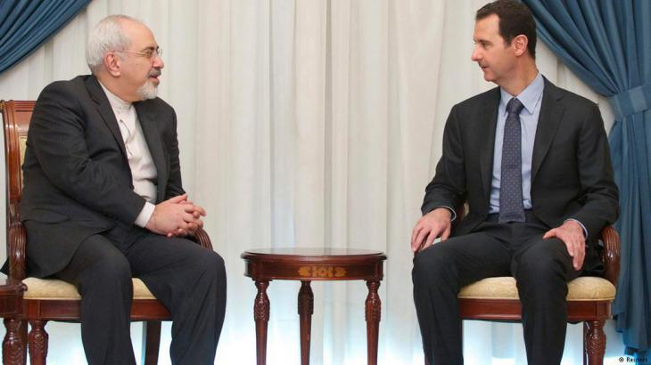 Iranian foreign minister, Sarif, visits President Assad in Damascus on 15 January, 2015 (photo: Reuters)