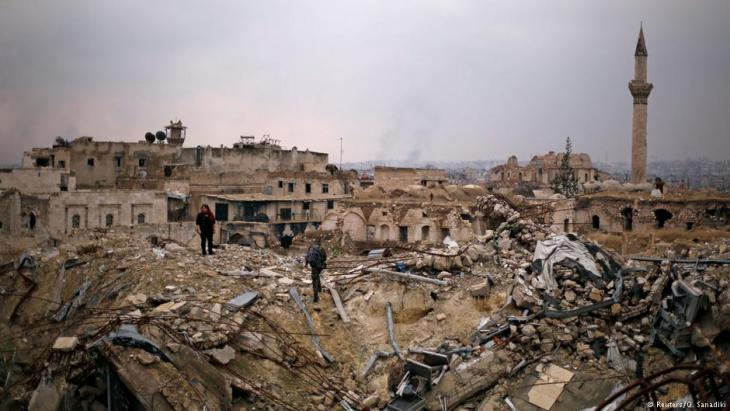 Destroyed by war: the northern Syrian city of Aleppo in December 2016 (photo: Reuters)