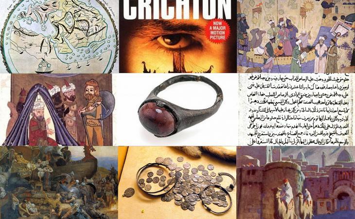 Banner of various images demonstrating links between Muslims and Vikings (source: muslimheritage.com)