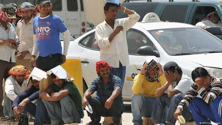 Foreign labourers in Riyadh (photo: AFP/Getty Images)