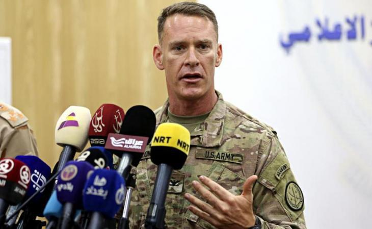 Colonel Ryan Dillon, spokesman for the U.S. Armed Forces in the Middle East (photo: AP)
