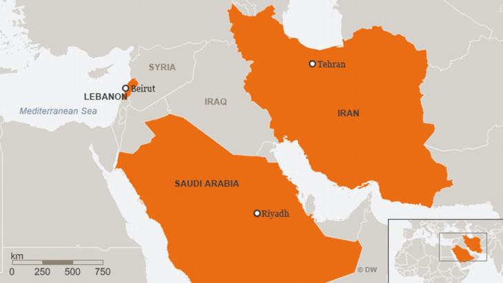 Saudi Arabia/Iran/Lebanon infographic (source: DW)