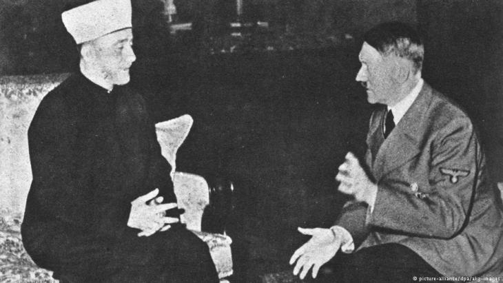 The Grand Mufti of Jerusalem visits Adolf Hitler in the Reichskanzlei in Berlin in November 1941 (photo: picture-alliance/dpa/akg-images)