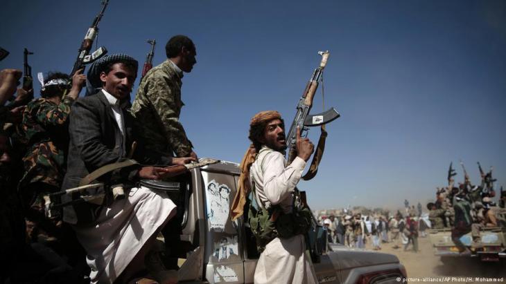 Houthi rebels in Sanaa