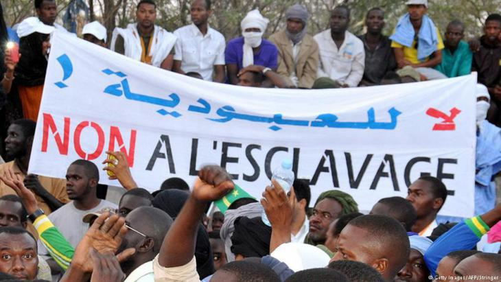Haratins protesting against slavery in Nouakchott, Mauritania (photo: Getty Images/AFP)