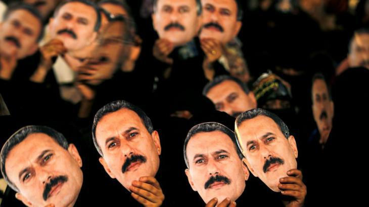 Supporters of the former president, Ali Abdullah Saleh (photo: Reuters)