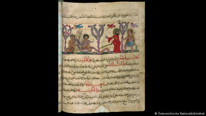 13th-century Arabic manuscript showing how to catch snakes using stuffed dolls (photo: Österreichische Nationalbibliothek)