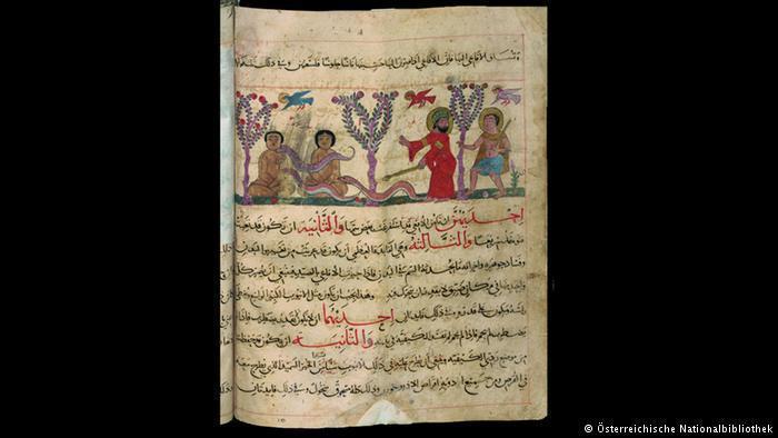 13th-century Arabic manuscript showing how to catch snakes using stuffed dolls (photo: Österreichische Nationalbibliothek)
