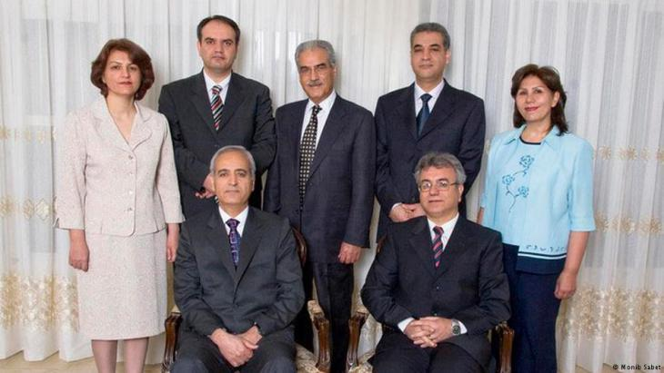 The seven members of the Baha'i leadership imprisoned by the authorities in Iran in 2008 (photo: Monib Sabet)
