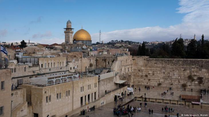 View of the Wailing Wall and the Dome of the Rock, Jerusalem (Photo: Getty Images/L. Mizrahi)