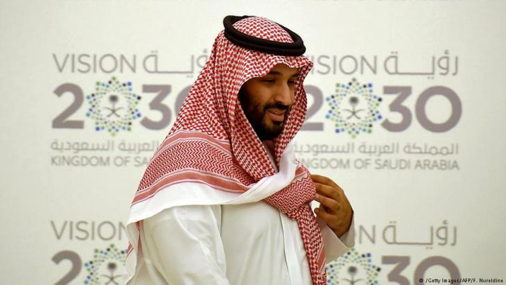 """Crown prince Mohammed bin Salman of Saudi Arabia at the launch of """"Vision 2030"""" (photo: Getty Images/AFP)"""