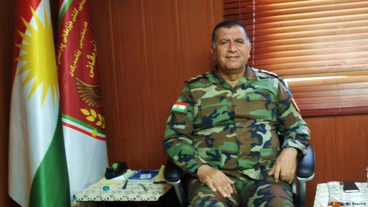 Kurdish Major General Aziz Weysi Bani (photo: DW)