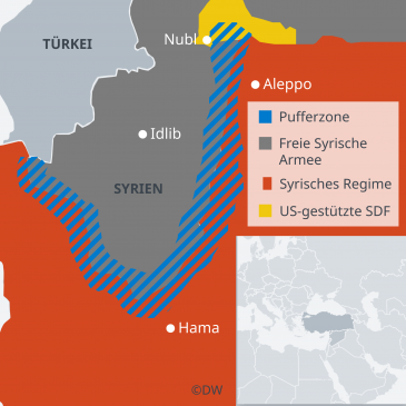 Infographic showing Syriaʹs Idlib province (source: DW)