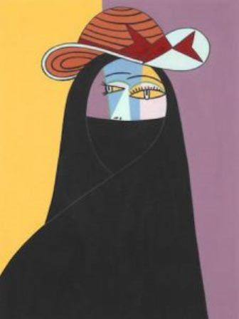 "Helen Zughaib's ""Abaya Picasso"" (reproduced by kind permission of the artist)"