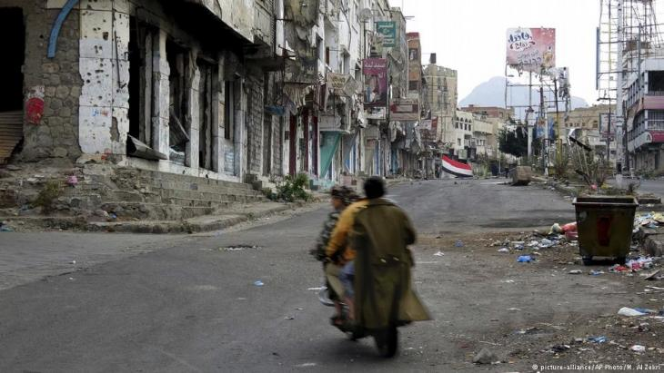 Street scene from Taiz, Yemen (photo: picture-alliance/AP Photo/M. Al Zekri)