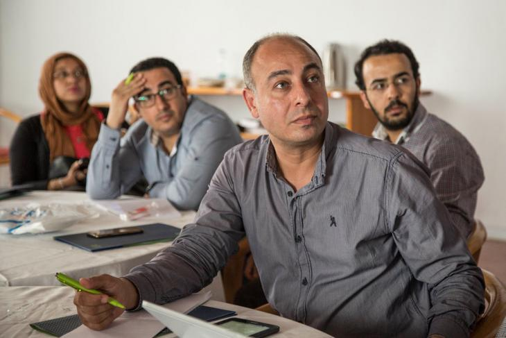 Participants at the workshop on science journalism (photo: Roger Anis/Goethe-Institut Cairo)