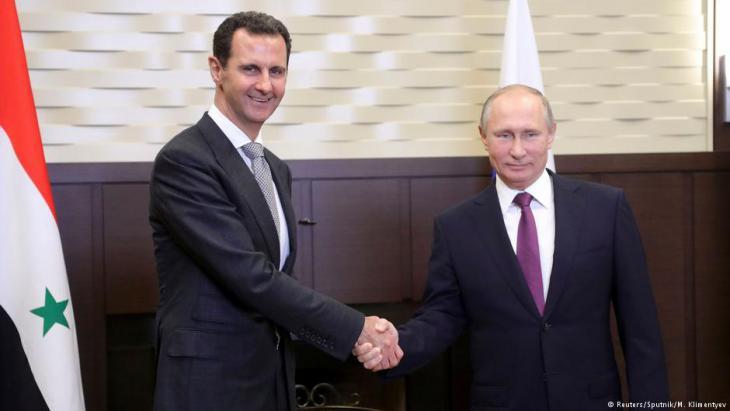 Presidents Assad and Putin meet in Sochi in November 2017 (photo: Reuters/Sputnik/M. Klimentyev)