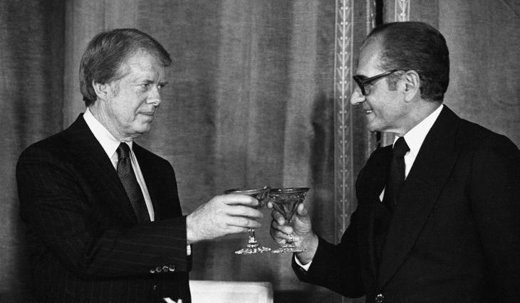 US President Jimmy Carter and the Iranian Shah Mohammad Reza Pahlavi, Washington, 1977 (photo: Reuters)