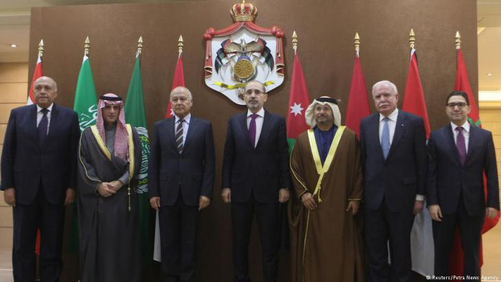 Meeting of foreign ministers from Arab states in Amman (photo: Reuters)