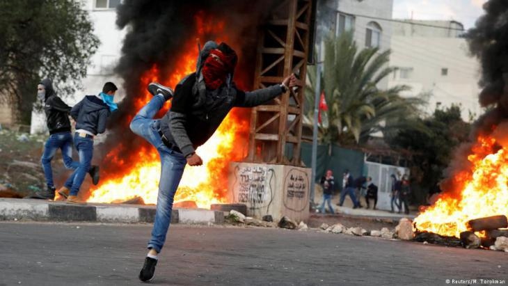 Young Palestinians protest against President Trump's decision to recognise Jerusalem as the capital of Israel (photo: Reuters)