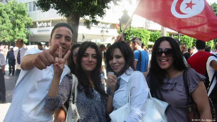 Tunisian young people (photo: DW)