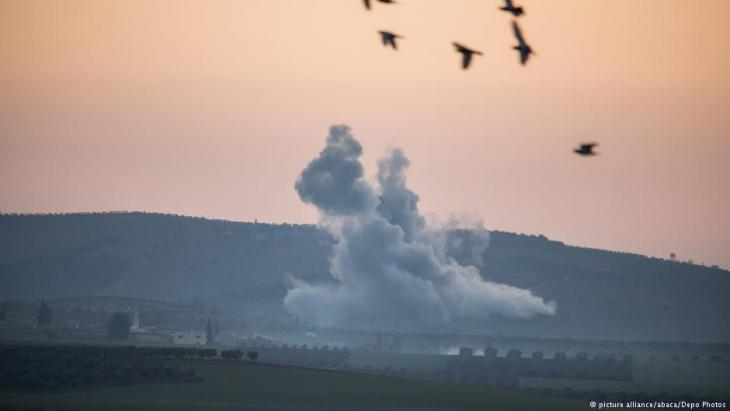 Turkish attacks on YPG positions in north-western Syria (photo: picture-alliance/abaca)