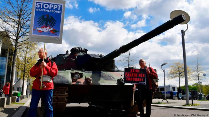 Protesting against German arms exports to Turkey (photo: AFP/Getty Images)