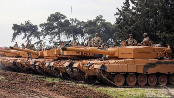 Turkish offensive in northern Syria with Leopard 2A4 tanks (photo: picture-alliance/dpa)