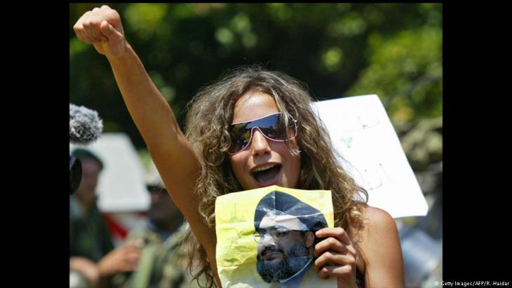 Hezbollah supporter protesting against the government of Prime Minister Fouad Siniora (photo: AFP/Getty Images)