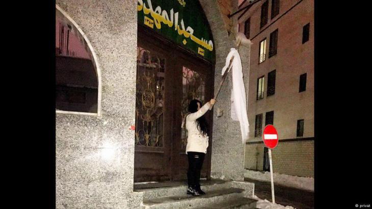 Anti-hijab protest in Iran (photo: private)