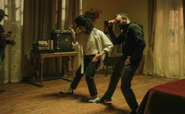 "Still from the Egyptian film ""Sheikh Jackson"""