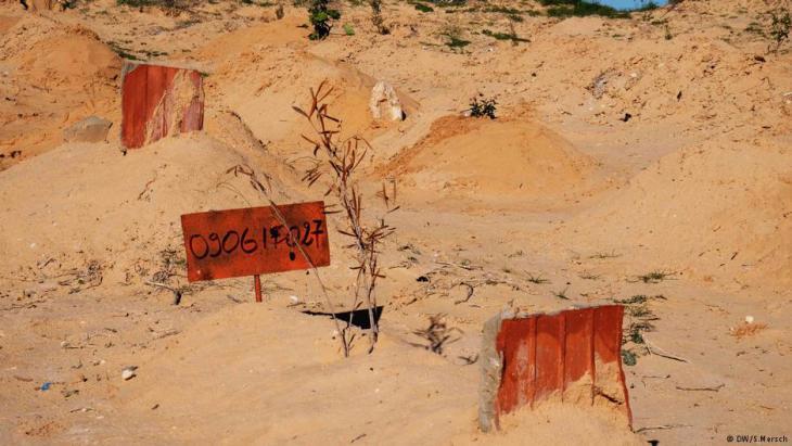 Graves in Zarzis (photo: DW)