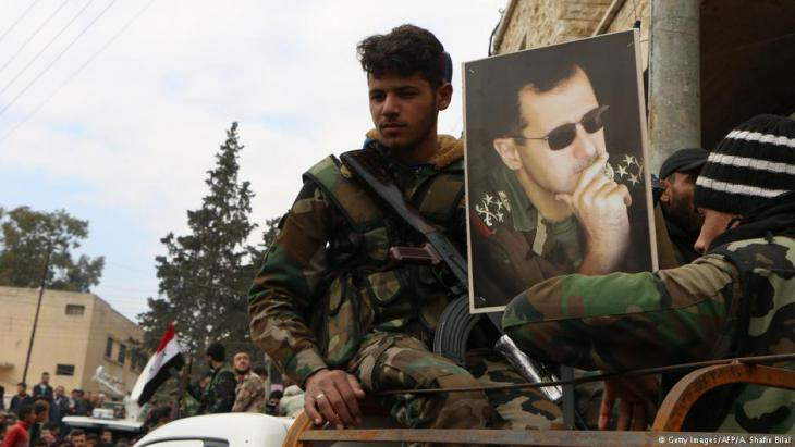 Troops loyal to Assad in the northern Syrian province of Afrin (photo: AFP/Getty Images)