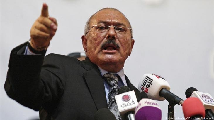 Former dictator of Yemen, Ali Abdullah Saleh, now deceased (photo: picture-alliance/AP)