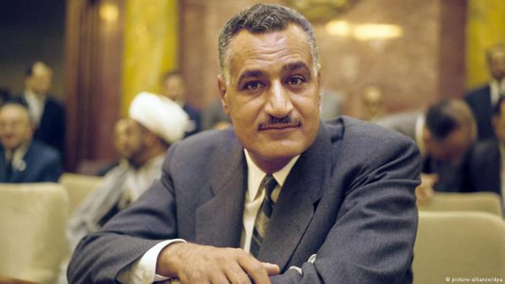 Egyptʹs former president Gamal Abdel Nasser (photo: dpa)