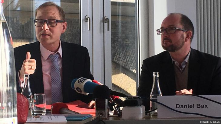 "Daniel Legutke (left), human rights expert with the ""German Commission Justitia and Pax"" (photo: DW)"