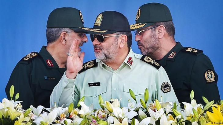 Representatives of the Revolutionary Guard in Tehran (photo: Tasnim)