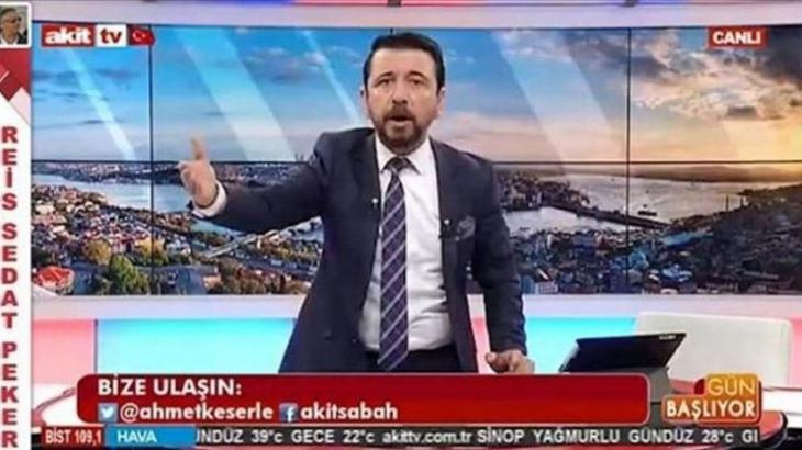 Akit TV presenter Ahmet Keser during a broadcast (source: YouTube)