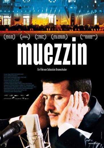 """Poster advertising the documentary """"Muezzin"""" by Austrian film director Sebastian Brameshuber"""