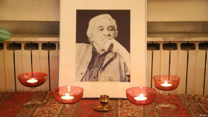 Memorial to Iranian philosopher Daryush Shayegan (photo: IBNA)