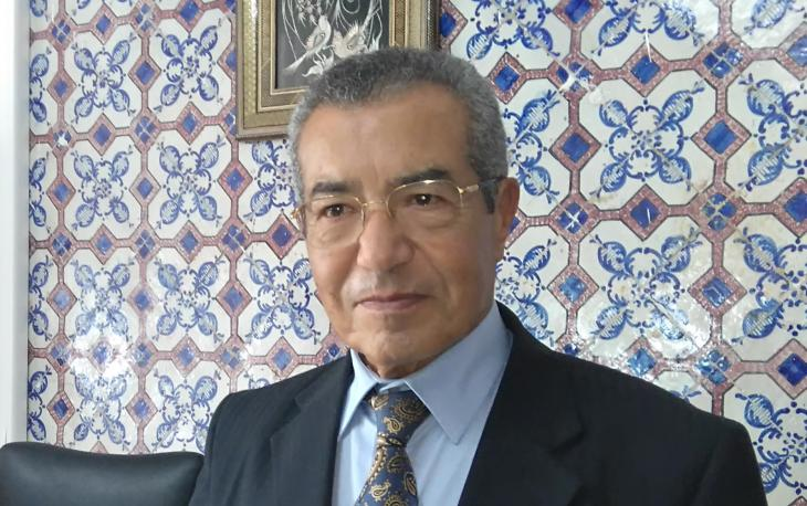 Professor Emeritus of Islamic Studies at the University of Tunis Abdelmajid Charfi in his office in the Palais Zarrouk, November 2016 (photo: Habib M'henni/Wikimedia Commons)