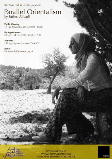 Poster for Abbadiʹs Tatreez photo exhibition in the Arab British Centre in London (source: Fatima Abbadi Photography)