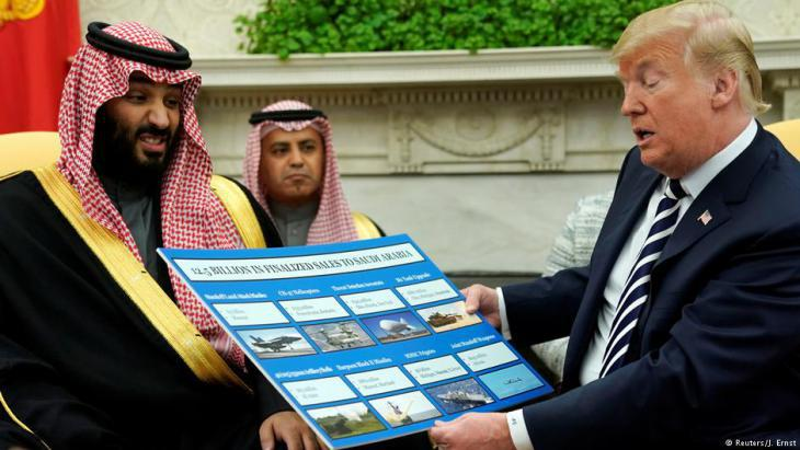 Saudi Crown Prince Mohammed bin Salman visiting Donald Trump in the White House, Washington (photo: Reuters)