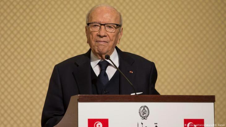 Tunisiaʹs President Beij Caid Essebsi (photo: picture-alliance/abaca)