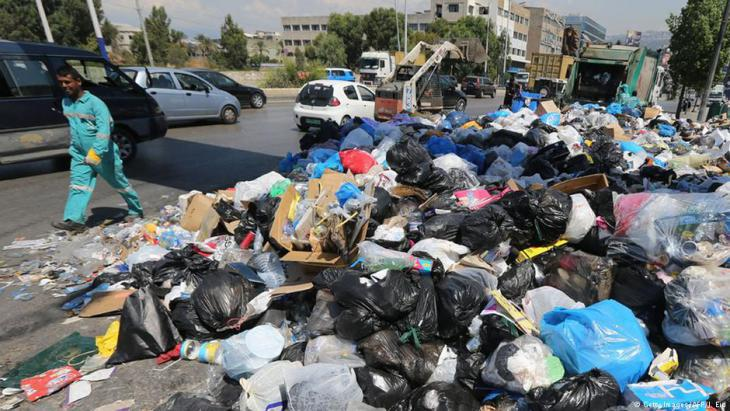 Rubbish on the streets of Beirut in summer 2015 (photo: AFP/Getty Images)