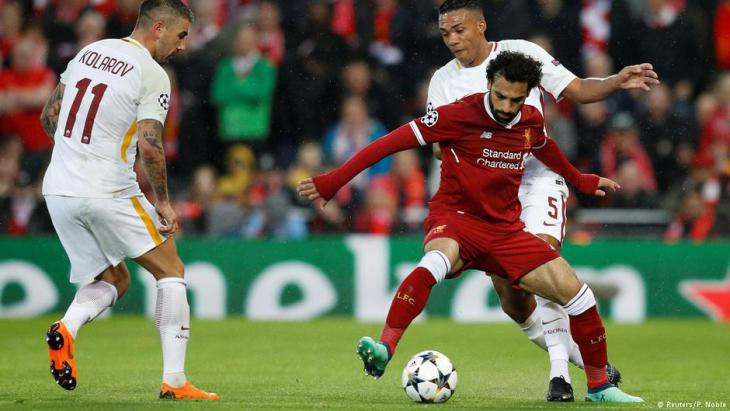 Mo Salah in action against AS Roma in Liverpool on 24.04.2018 (photo: Reuters)