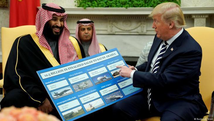 Saudi Crown Prince Mohammed bin Salman visiting U.S. President Donald Trump in Washington (photo: Reuters)